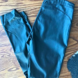 Perfect condition H&M leather side zip pants